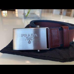 Barely worn, 100% Authentic Prada nylon belt.